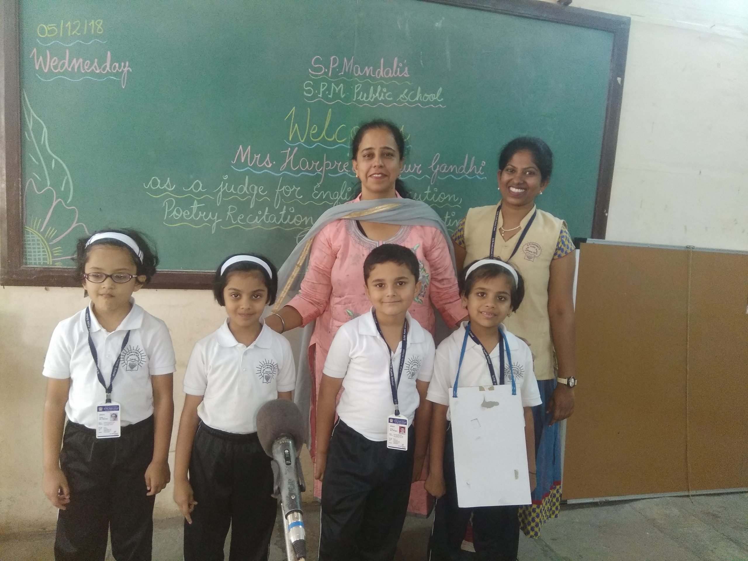 Photos of English and Hindi elocution competition